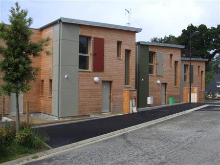 lotissement 10 maisons ossatures bois qsb ing nierie structures bois lannion. Black Bedroom Furniture Sets. Home Design Ideas